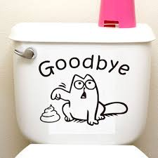 online get cheap cat wall decal aliexpress com alibaba group dctop funny cartoon cats wall stickers home decor for toilet seat removable vinly wall decals decoration