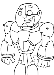 12 images of teen titans go cyborg coloring pages cyborg teen