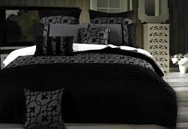 lyde charcoal black quilt cover set by luxton warehouse sale at