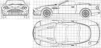 car blueprints aston martin db7 zagato convertible blueprints