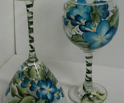 Wine Glass Decorating Ideas Hand Painting Wine Glasses 20 Steps With Pictures