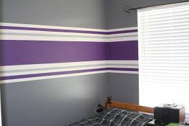 Striped Bedroom Wall by Wall Paint Stripes Orange Incredible Home Design