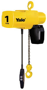 yale yjl 2 ton electric chain hoist 15 ft lift yjl2 15th8s2