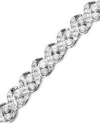 chain diamond bracelet images Macy 39 s diamond bracelet in 14k white gold 3 ct t w bracelets tif