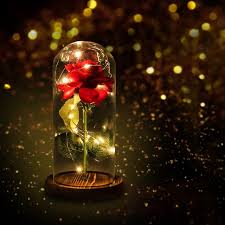 beauty and the beast light up rose 2018 beauty and the beast red artificial flowers rose with led light