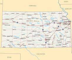Us Maps With States And Cities by Large Map Of Kansas State With Roads Highways Relief And Major