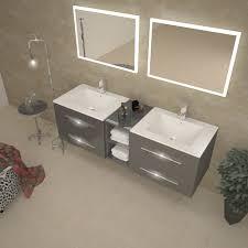 sonix 1500 wall hung double basin vanity unit grey buy online at