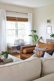 Living Rooms With Curtains Easy Breezy Modern Farmhouse Summer Tour Curtains Slipcovers