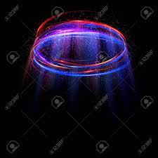 glow show empty podium disco club rays view glow spin dust beam show