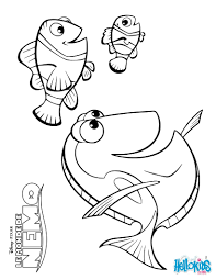 marlin dory and nemo coloring pages hellokids com
