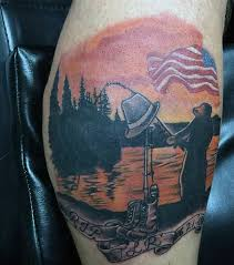 Tropical Themed Tattoos - 75 fishing tattoos for men reel in manly design ideas
