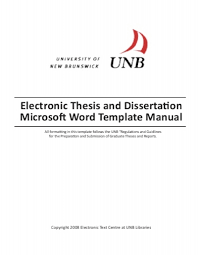situated about thirty kil Electronic Thesis and Dissertation Microsoft Word Template Manual