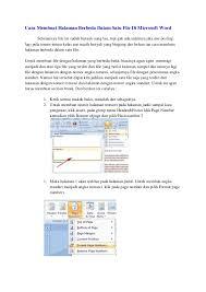 cara membuat nomor halaman yang berbeda di word 2013 cara membuat nomer halaman berbeda di microsoft word