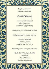 retirement invitation wording retirement party invitation wording rpit 21 5 7 big photograph