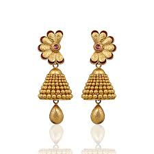 gold jhumka earrings nac product detail gold jhumka bridal earrings