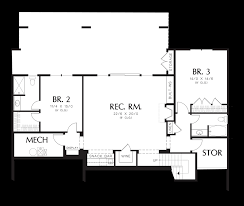 mascord house plan 1329 lodge style plan plan and hobby room