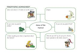 traditions worksheet