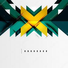 futuristic geometric shapes minimal design u2014 stock vector