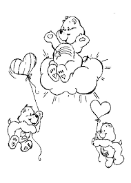 birthday bear coloring pages hellokids