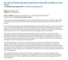 listen da suspends de lille smith cape argus