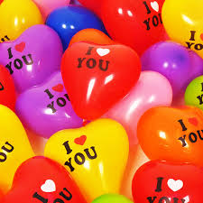 balloons that float 100pcs lot 12inch heart i u balloon float air balls
