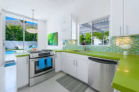 Lime Green Kitchen Splashback - how to pair kitchen splashbacks and benchtops with ease