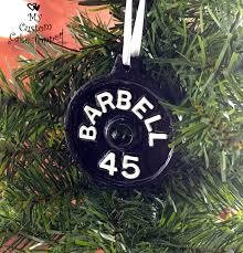 barbell ornament 45 lb my custom cake topper