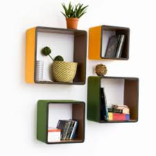 furniture fancy wall bookshelves design ideas feature square