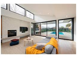 home design modern living room design with clerestory windows and
