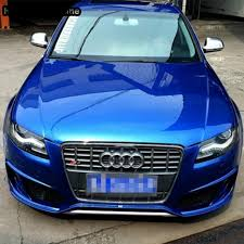 audi rs4 grill for audi a4 rs4 s4 b8 s4 style grey front bumper grill grille 2