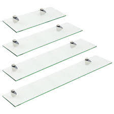 Wall Mounted Bathroom Shelves Wall Mounted Glass Shelves Ebay