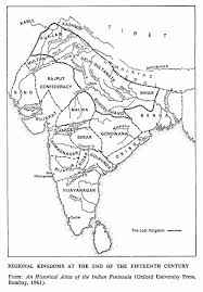 India Regions Map by Muslim Civilization In India By S M Ikram Edited By Ainslie