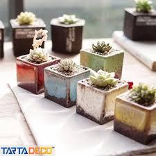 pots cuisine d oration mini ceramic flowerpot pottery plant vase nursery pots desktop