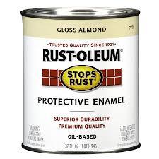 shop rust oleum stops rust almond gloss oil based enamel interior