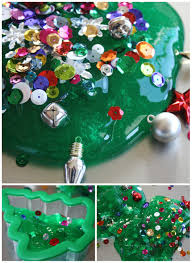 How To Make Homemade Ornaments by Christmas Tree Homemade Slime Decorated With Sequins And Ornaments