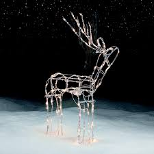 trim a home 48 in outdoor animated lighted standing deer