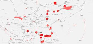 Kyrgyzstan Map Osh Bishkek Tour Kalpak Travel