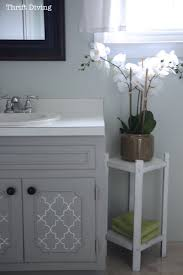 How To Paint A Bathroom Vanity DIY Makeover Thrift Diving Blog - Best type of paint for bathroom 2