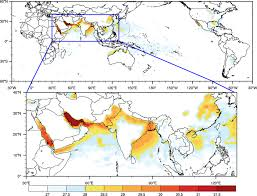 Map Of Nepal In Asia by Deadly Heat Waves Projected In The Densely Populated Agricultural