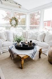 farmhouse style table cloth farmhouse style coffee table in the sunroom a lovely warm wood