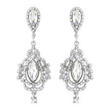 Sparkly Chandelier Earrings Vintage Chandelier Bridal Earrings Zaphira Bridal
