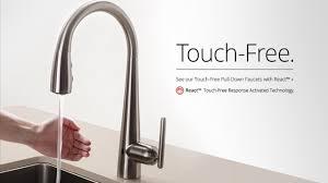 touch sensitive kitchen faucet touchless kitchen faucet home depot faucet ideas