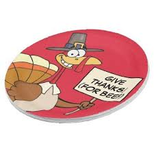 alternatives to turkey for thanksgiving dinner paper plate humor