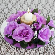 flower candle rings 8 pack of artificial lavender candle rings wedding
