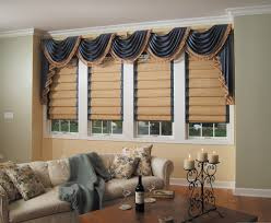 white venetian blinds mixed brown silk loose curtain with rustic