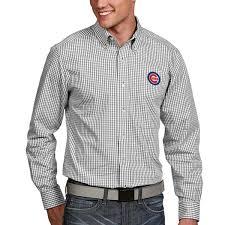 men u0027s chicago cubs antigua white associate button down dress long