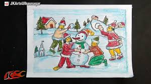 diy easy christmas drawings how to draw jk arts 752 youtube