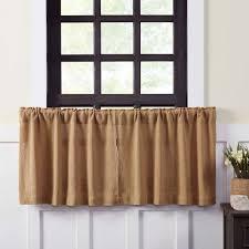 burlap natural tier curtains 24
