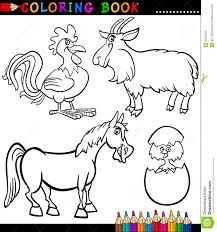 farm animal coloring book cartoon farm animals for coloring book royalty free stock image