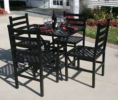 Patio Dining Set by Ansley Luxury 4 Person All Welded Cast Aluminum Patio Furniture